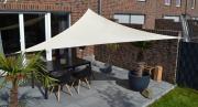 Peddy Shield Dreiecksonnensegel elfenbein 360 cm mit Regenschutz incl. Zubehör