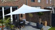 Peddy Shield Dreiecksonnensegel weiß 360 cm mit Regenschutz incl. Zubehör