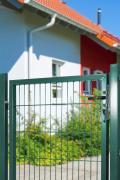 Peddy Shield Gartenzaun Zaun Gartentor für Doppelstabmatte grün (RAL 6005) einflügelig Höhe: 80 cm