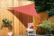 Peddy Shield HDPE Dreiecksonnensegel terracotta 300 cm Wind- u. Wasserdurchlässig