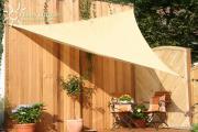 Peddy Shield HDPE Dreiecksonnensegel Weizen 360 cm Wind- u. Wasserdurchlässig