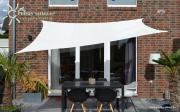 Peddy Shield HDPE Vierecksonnensegel ceme weiß 250 x 300 cm Wind- u. Wasserdurchlässig