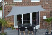 Peddy Shield HDPE Vierecksonnensegel grau 250 x 300 cm Wind- u. Wasserdurchlässig
