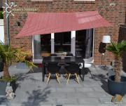 Peddy Shield HDPE Vierecksonnensegel terracotta 250 x 300 cm Wind- u. Wasserdurchlässig