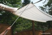 Peddy Shield Schiebestock steckbar 4-teilig 127 cm grau - für Seilspann-Sonnensegel