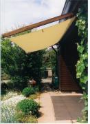 Peddy Shield Seilspann-Sonnensegel hell elfenbein 420 x 140 cm inkl. 34 x Laufhaken