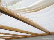 Peddy Shield Seilspann-Sonnensegel Hell Elfenbein 380 x 88 cm inkl. 40 x Laufhaken und 2 x Stopper