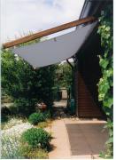 Peddy Shield Seilspann-Sonnensegel silbergrau 330 x 140 cm inkl. 24 Laufhaken