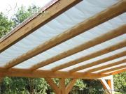 Peddy Shield Seilspann-Sonnensegel weiß 275 x 68 cm inkl. 26 x Laufhaken und 2 x Stopper