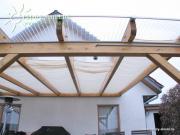 Peddy Shield Seilspann-Sonnensegel weiß 330 x 61 cm inkl. 34 x Laufhaken und 2 x Stopper