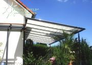 Peddy Shield Seilspann-Sonnensegel weiß 380 x 96 cm inkl. 40 x Laufhaken und 2 x Stopper