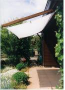 Peddy Shield Seilspann-Sonnensegel weiß 420 x 140 cm inkl. 34 x Laufhaken