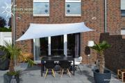 Peddy Shield Vierecksonnensegel silbergrau 250 x 300 cm mit Regenschutz incl. Zubehör