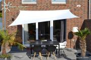 Peddy Shield Vierecksonnensegel weiß 250 x 300 cm mit Regenschutz incl. Zubehör