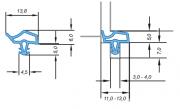 Primo Universal Dichtung Lignum 34 für Holzzarge 5 x 11-13 x 3-4 x 7 mm transparent 5m