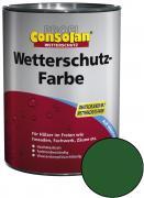 Profi Consolan Wetterschutz-Farbe Grün 10,0 L