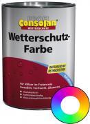 Profi Consolan Wetterschutz-Farbe RAL 9010 Reinweiß Wunschfarbton 2,5 L