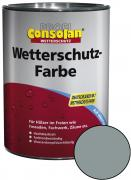 Profi Consolan Wetterschutz-Farbe Silbergrau 10 L