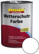 Profi Consolan Wetterschutz-Farbe Weiß 750 ml