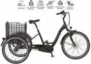 prophete E-Bike Dreirad 26 CARGO Damen Herren 3-Gang Nabenschaltung 250 W schwarz glanz