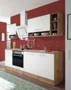 respekta Economy Küchenblock 220 cm Wildeiche Nachbildung weiß