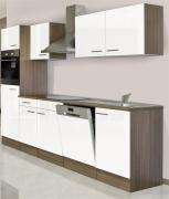 respekta Economy Küchenblock 280 cm Eiche York Nachbildung weiß