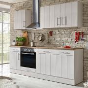 respekta Premium Küchenblock Landhaus 220 cm Wildeiche Nachbildung Lärche weiß