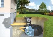 Rewatec Garten-Komplettanlage AutoReel mit Flachtank NEO 1.500 L