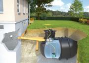 Rewatec Garten-Komplettanlage Basic mit Erdtank BlueLine II 5.200 L