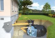 Rewatec Garten-Komplettanlage Eco mit Flachtank NEO 3.000 L