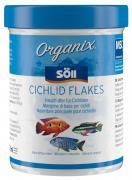 Söll Organix Cichlid Flakes 270 ml Fischfutter Hauptfutter-Flocken Barschfutter für Aquarienfische
