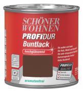 Schöner Wohnen ProfiDur Buntlack Nussbraun (RAL 8011) hochglänzend 125 ml