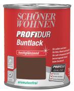 Schöner Wohnen ProfiDur Buntlack Nussbraun (RAL 8011) hochglänzend 750 ml