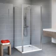Schulte Duschkabine Alexa Style 2.0 Dusche U-Kabine mit Pendeltür 5 mm