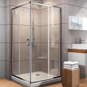 Schulte Duschkabine Sunny Eckeinstieg 900 x 900 x 1850 mm mit Schiebetüren