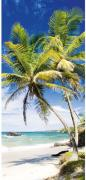 Schulte Duschrückwand Decodesign Foto Steg Palmenstrand 900 x 2100