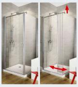 Schulte Duschkabinie Garant Wegschwenkbare Seitenwand für Drehtür 6 mm