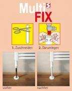 Schulte Multi FIX Schutz für Heizungsrohre Kunststoff weiß Länge 1 m (3 Stück)