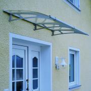 Schulte Vordach LT-Line Pultbogenvordach 1900Acrylglas satiniert Edelstahl matt gebürstet