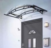 Schulte Vordach LT-Line Rundbogenvordach 1500 Acrylglas klar Stahlwandhalterung anthrazit