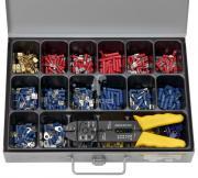 Sortiment Kabelverbinder isoliert mit Zange 406 Teile