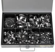 Sortiment Schlauchschellen Band A2, 9mm Bandbreite, SW7, 7-11-32-50 mm 125 Teile