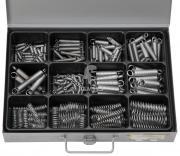 Sortiment Zug- und Druckfedern 0,6 x 6,0 x 25 - 1,5 x 15,0 x 65 mm 176 Teile