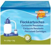 Summer fun Wasserpflegeprodukt Chlormethode Flockkartusche Flockungskissen 8er-Pack 1 kg