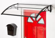 Superroof Vordach EMMA 1400x800 (zweiteilig) Schwarz Haustürüberdachung