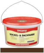 SYCOFIX Sockel- & Dachfarbe Innen- und Außenbereich wetterbeständig tropffrei dunkelbraun 2,5 l