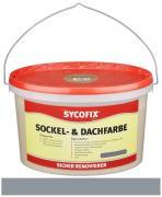 SYCOFIX Sockel- & Dachfarbe Innen- und Außenbereich wetterbeständig tropffrei steingrau 2,5 l