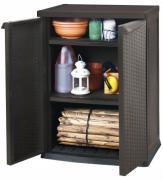 Tepro Aufbewahrungsbox Aufbewahrungsschrank Gerätebox Rattan Style