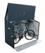 Tepro Fahrradbox Fahrradgarage anthrazit mit Einfahrtsrampe 196 x 89 x 133 cm