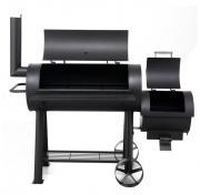 Tepro Holzkohlengrill Smoker mit seitlicher Brennkammer Milwaukee